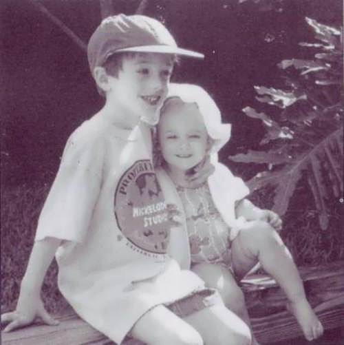 JonBenet with her brother