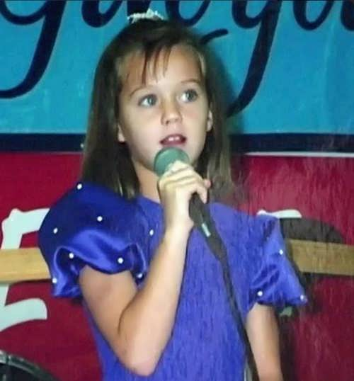 Katy Perry in her childhood