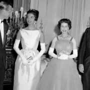 John F. Kennedy and his wife Jacqueline with the Queen and Prince Philip at Buckingham Palace, June 5, 1961