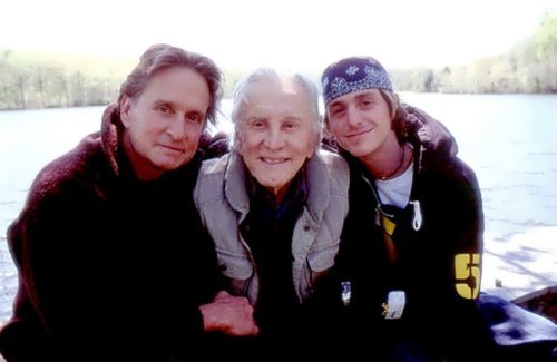 Michael and Kirk Douglas