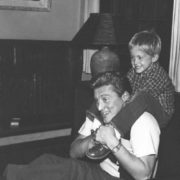 Kirk Douglas with his son