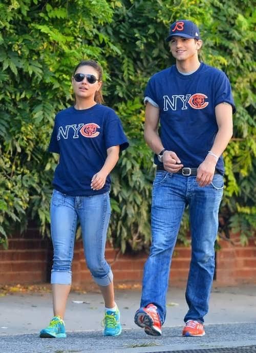 Mila and Ashton Kutcher