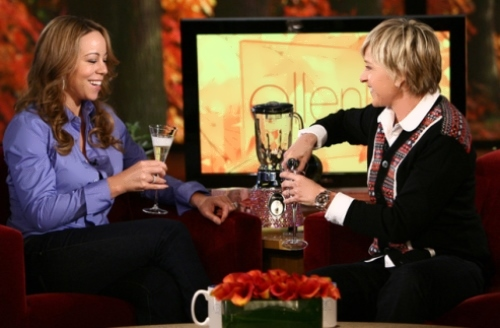 Mariah Carey and Ellen DeGeneres
