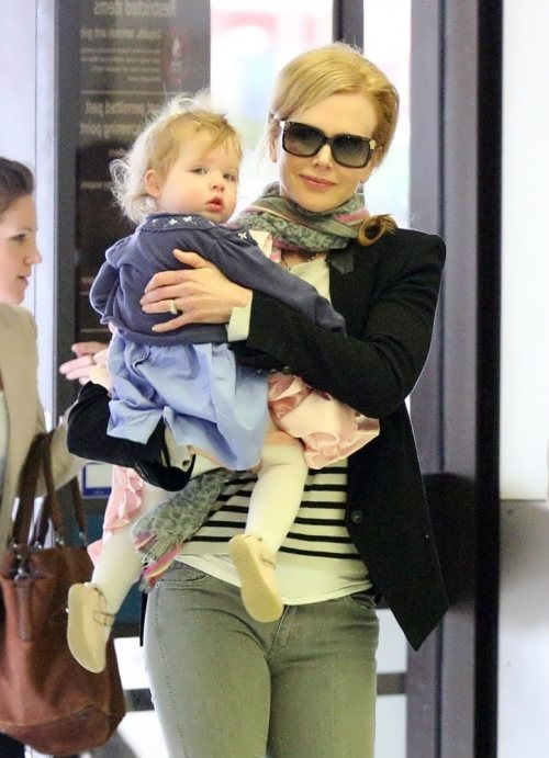 Nicole Kidman and her daughter