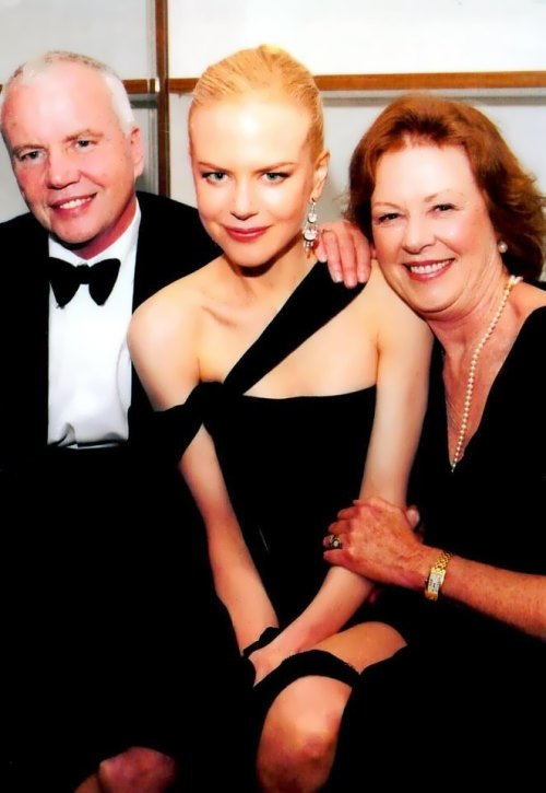 Nicole Kidman and her parents