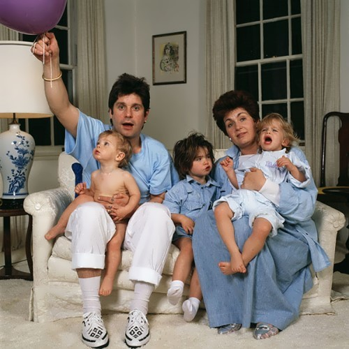 Sharon, Ozzy and their kids