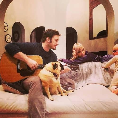 Anna Faris, Chris Pratt and their son