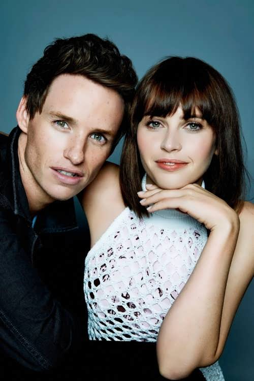Felicity Jones and Eddie Redmayne