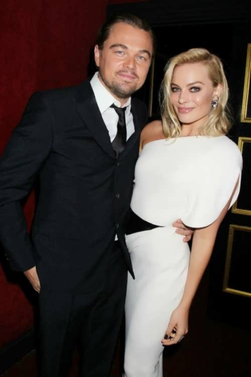 Margot Robbie and Leonardo DiCaprio