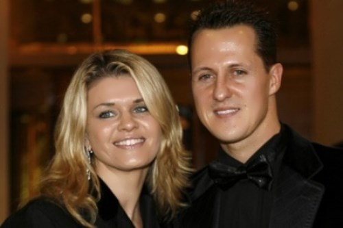 Schumacher and his wife