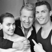 Cristiano Ronaldo, Mario Testino and Irina Shayk