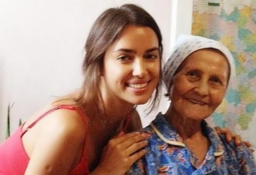 Irina Shayk and her grandmother