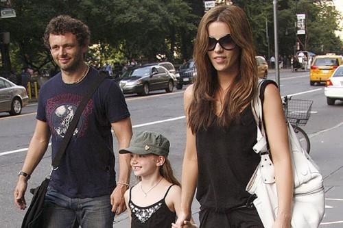 Kate Beckinsale, Michael Sheen and their daughter