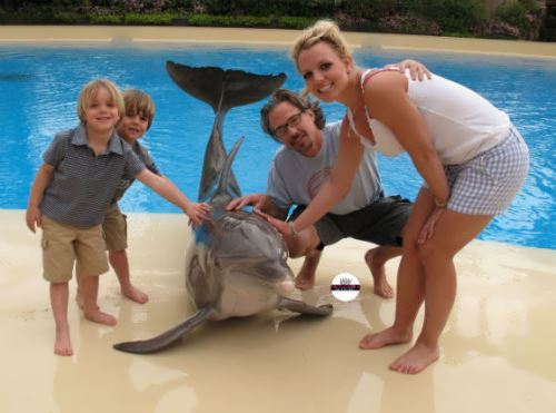 Spears and Jason Trawick with children
