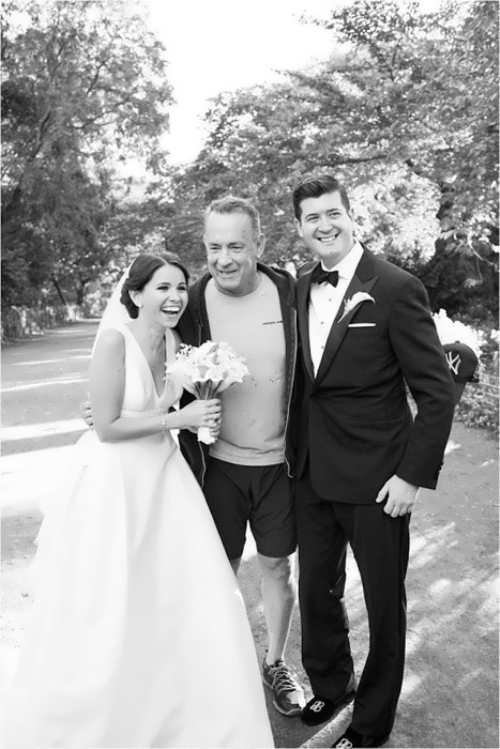 Tom Hanks and newly weds