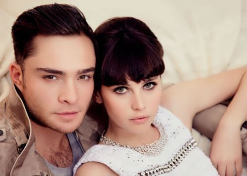 Ed Westwick and Felicity Jones