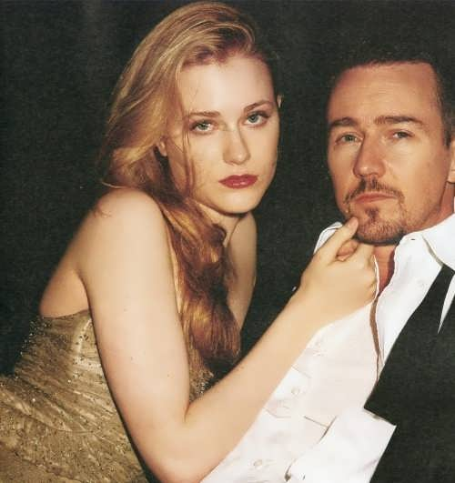 Evan Rachel Wood and Edward Norton