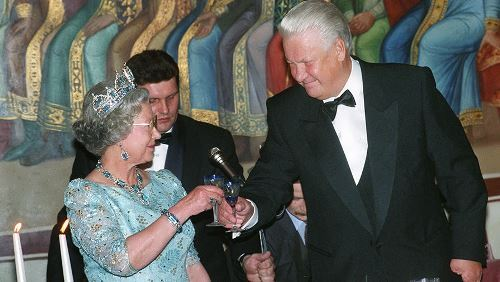 Boris Yeltsin and Elizabeth II