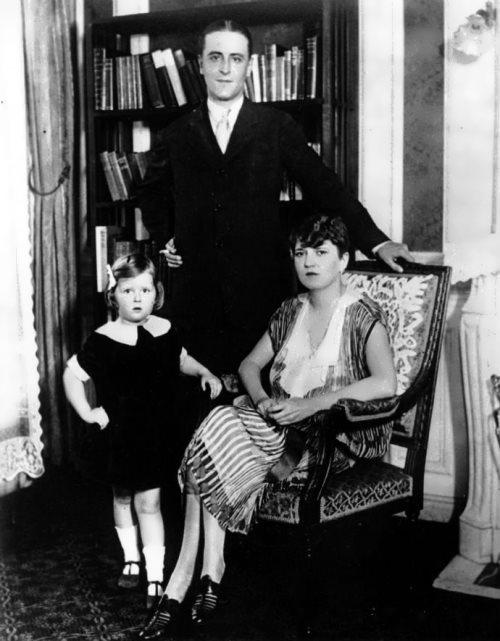 Zelda, Scott Fitzgerald and their daughter