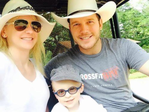 Anna Faris, her husband Chris Pratt and their son