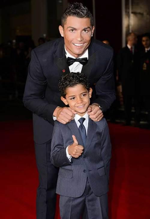 Ronaldo and his son