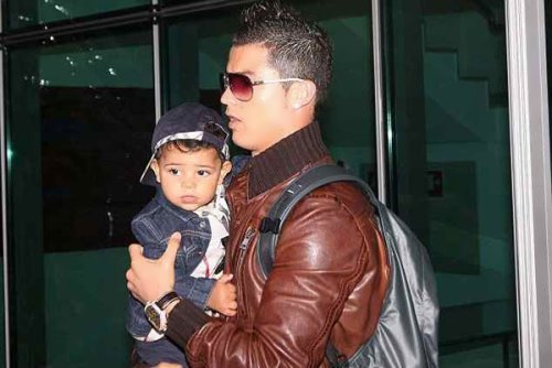 Ronaldo and his son