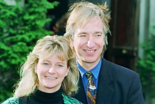 Alan Rickman and his wife