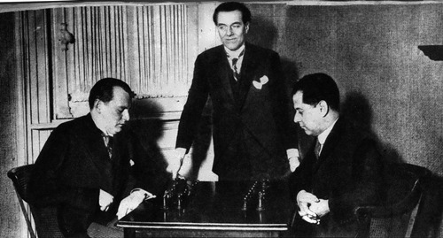 Alekhine and Capablanca