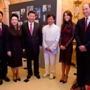 Jackie Chan with Prince William and Kate Middleton