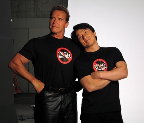 Arnold Schwarzenegger and Jackie Chan