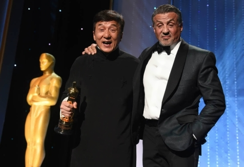 Sylvester Stallone and Jackie Chan