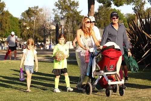 Charlie Sheen and his family