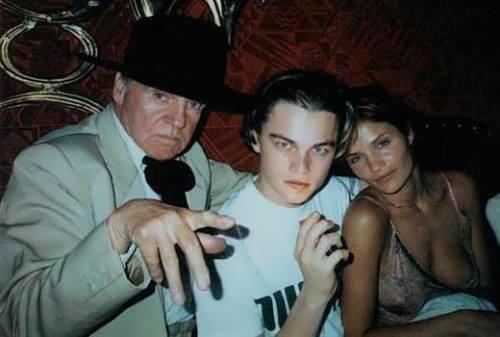 Helena Christensen and DiCaprio