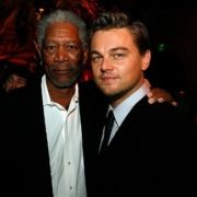 Morgan Freeman and DiCaprio