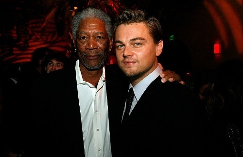 Morgan Freeman and DiCaprio