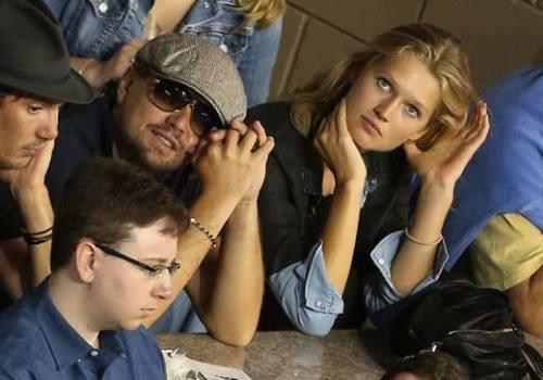 Toni Garrn and DiCaprio