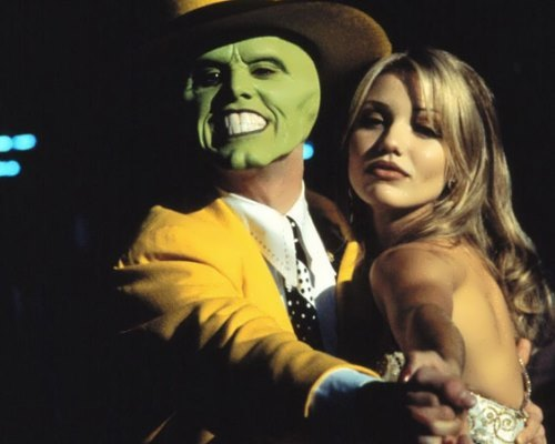 Jim Carrey and Cameron Diaz in the film The Mask