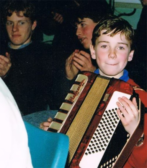 Michael Fassbender in his childhood