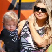 Fergie and her son