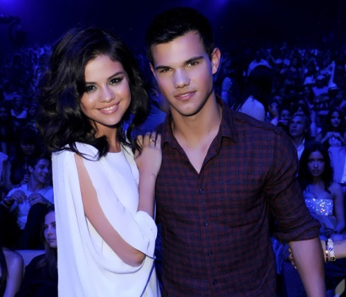 Taylor Lautner and Selena Gomez