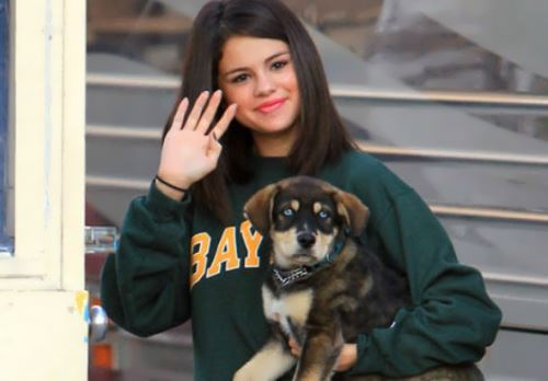 Gomez and her puppy named Baylor