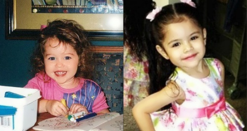 Selena Gomez in her childhood