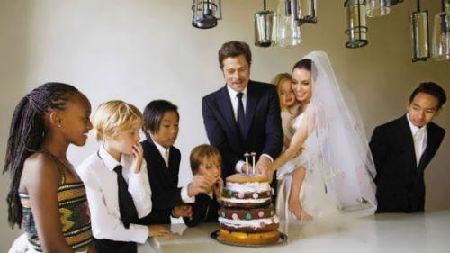Angelina Jolie, Brad Pitt and their children