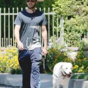 Leto and his dog