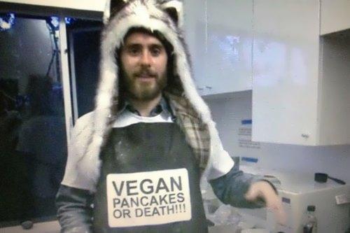 Jared is a vegan