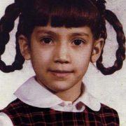 Jennifer Lopez in her childhood