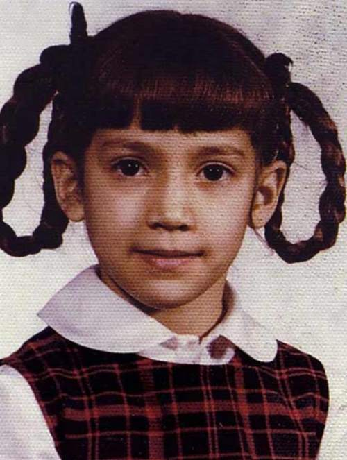 Jennifer Lopez in her childhood