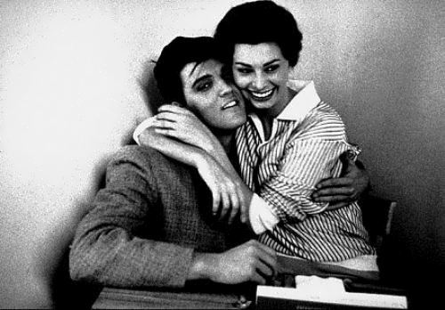 Elvis Presley and Sophia Loren