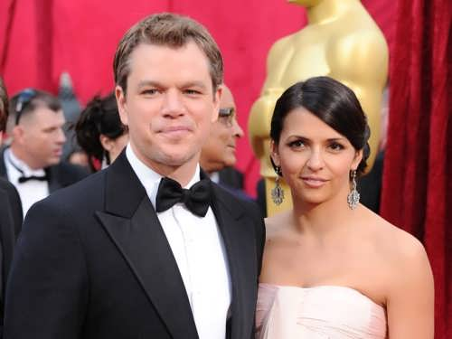 Matt Damon and his wife