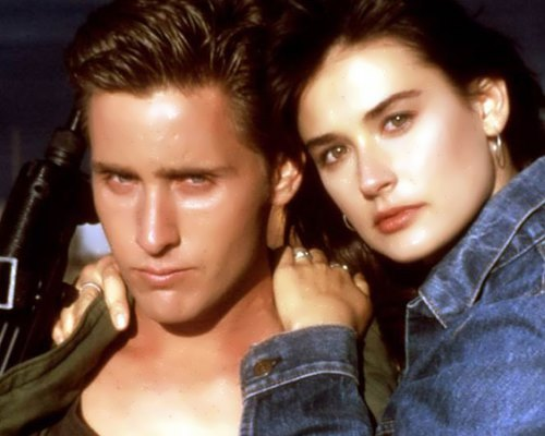 Emilio Estevez and Demi Moore